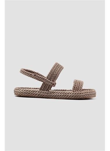 Limoya  Ten Halat Sandalet Basic Vizon